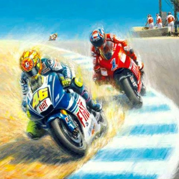 Moto GP Greeting Cards