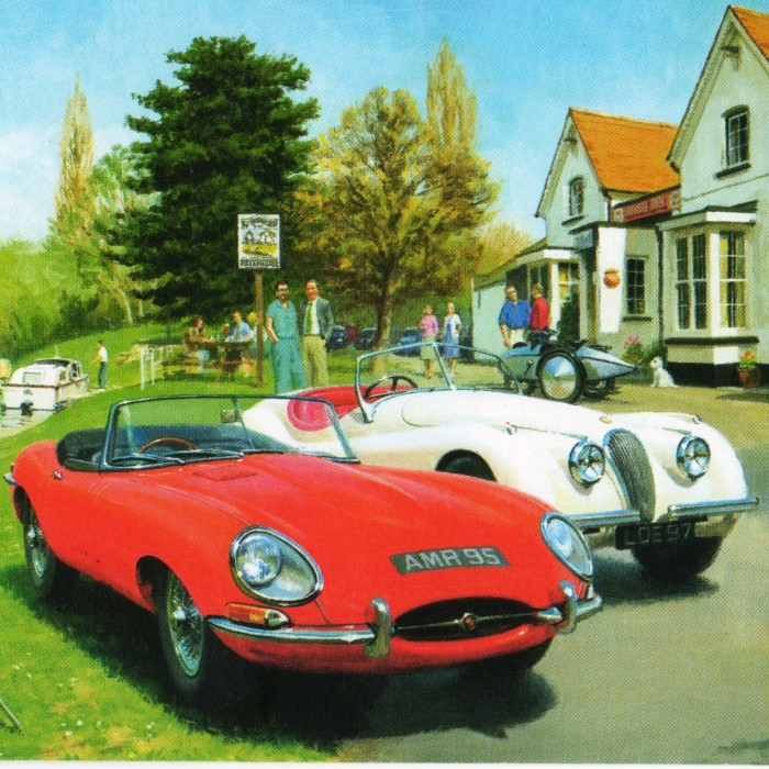 Vintage Motoring Greeting Cards