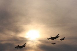 Lancaster Bombers at Goodwood 2014
